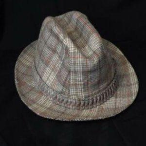 Vintage United Hatters Fedora Hat Men Large Tartan